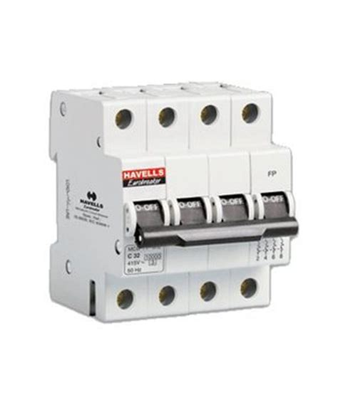 Mini Circuit Breaker Mcb 1 Phase 20 25 32 40a buy havells four pole mcb miniature circuit breaker at low price in india snapdeal