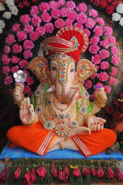 ganpati decoration at home pin by amita sharma rai on ganpati pinterest ganesh