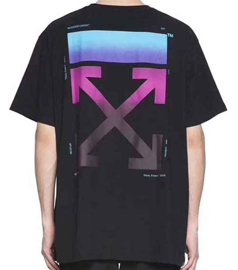 white gradient arrow t shirt dopestudent