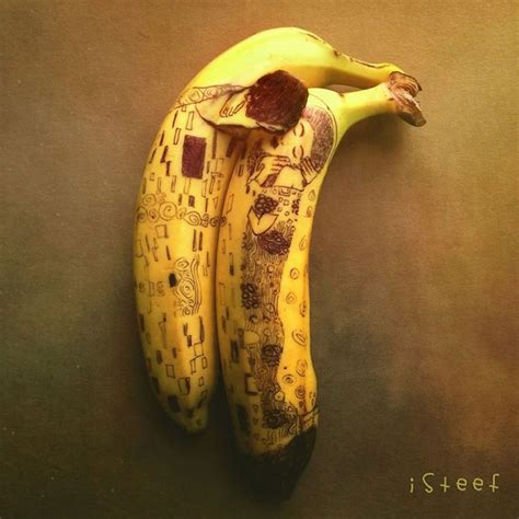 artist uses bananas to create amazing works of art