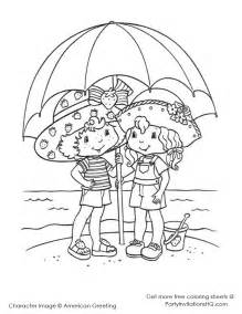 Baby Strawberry Shortcake Coloring Pages Pictures To Pin On Pinterest sketch template