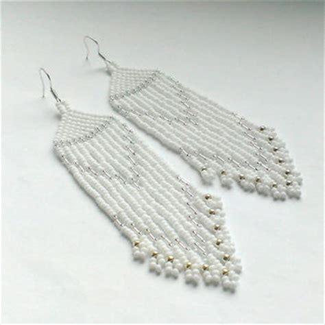 white beading b q best seed bead fringe earrings products on wanelo
