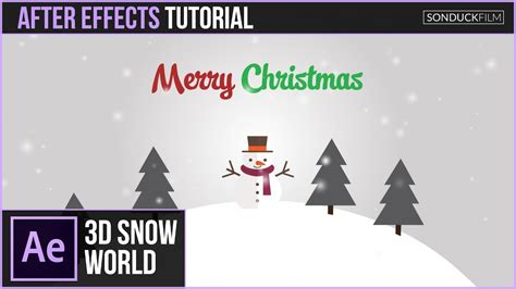 tutorial after effects jumper after effects tutorial 3d snow world christmas animation