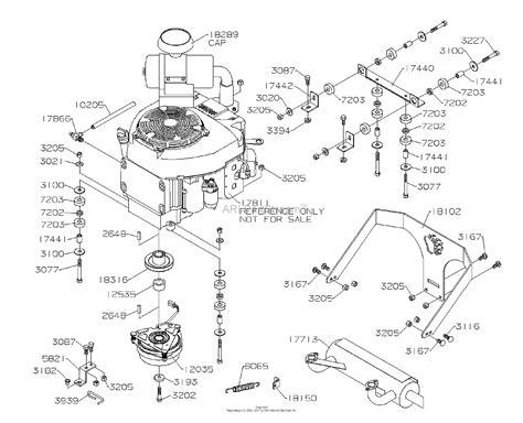 dixon grizzly   parts diagram  engine honda