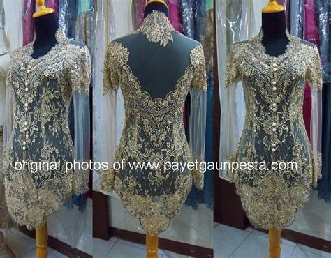 Kebaya Modern Setelan Gold Navy a modern gold lace kebaya for the wedding in indonesia wedding dress kebaya and evening gown