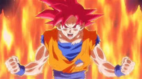 imagenes de goku rojo comparacion del super saiyan dios rojo y super saiyan dios