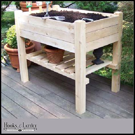 Raised Garden Planter Boxes by Raised Garden Planter Box W Lower Shelf