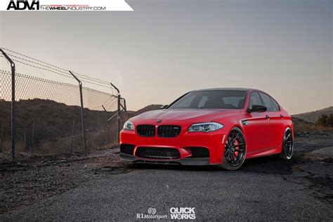 matte red bmw matte red bmw f10 m5 with adv 1 wheels