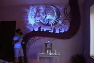 glow in the wall mural when the lights go out my bedroom becomes a fairytale