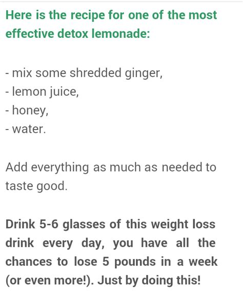 Most Effective Detox Diet For Weight Loss by The Most Effective Lemonade Detox Recipe For Weight Loss