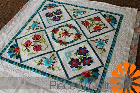 Embroidery Quilt by N Quilt Embroidery Applique Quilt
