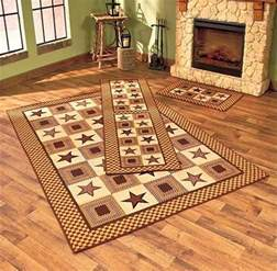 Country Star Rug Charming Country Star Primitive Look Area Accent Runner