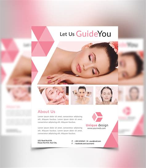 templates for beauty flyers beauty spa flyer flyer templates on creative market