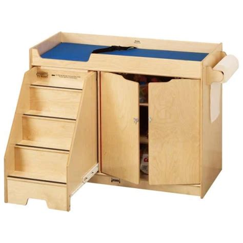 changing table with stairs jonti craft changing table w left side stairs 5131jc