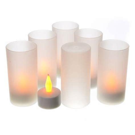 candele led ricaricabili lumini tealights led ricaricabili 6 pz vendita su