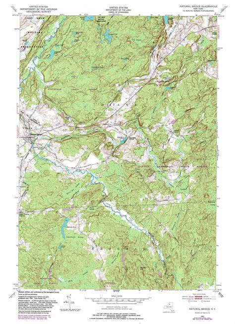 topo map bridge topographic map ny usgs topo 44075a4