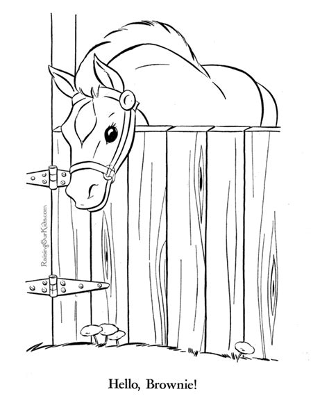 coloring pages of horse stable horses coloring page 026