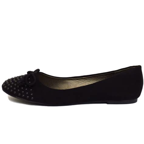 black slip on flat comfy work school shoes dolly