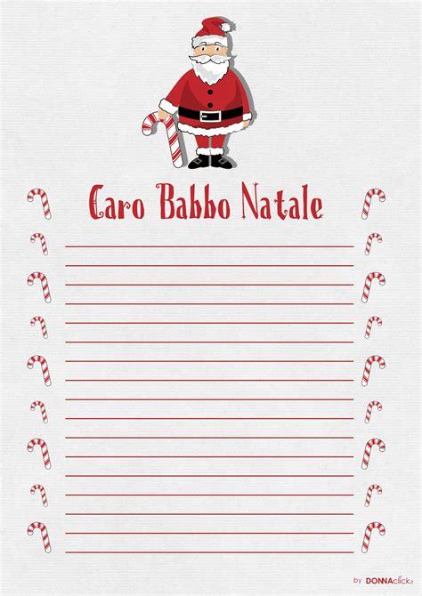 lettere di letterina da stare e compilare per babbo natale