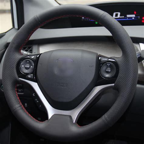 honda civic steering wheel cover black artificial leather car steering wheel cover for