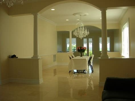 Half Wall Between Living Room And Foyer We Would Like Half Walls And Pillars Between Our