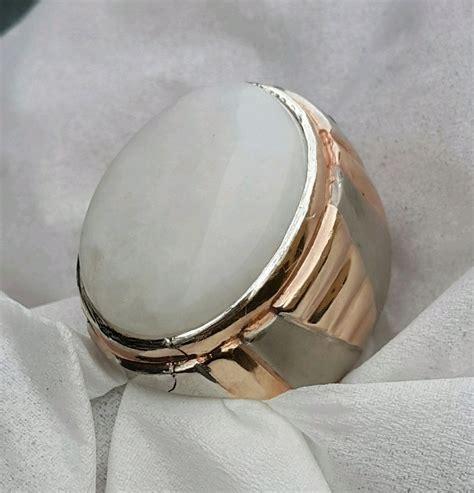 jual cincin akik yaman putih asli origin  yaman