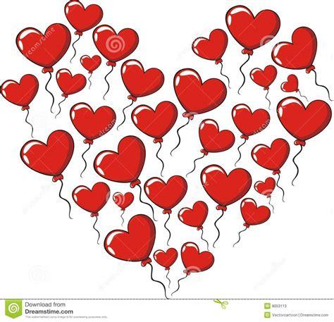imagenes de corazones y amor globos de los corazones del amor stock de ilustraci 243 n