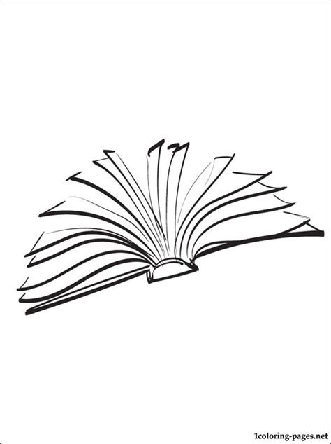 open book coloring page coloring pages