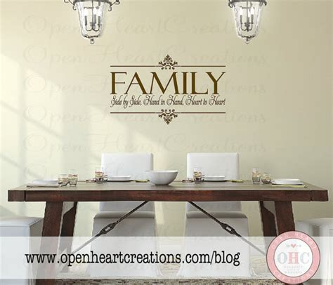 family wall stickers family vinyl wall decal side by side by