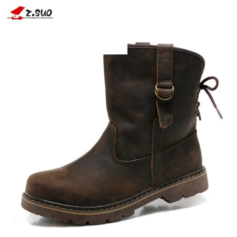 high motorcycle boots genuine leather men boots vintage motorcycle boots men