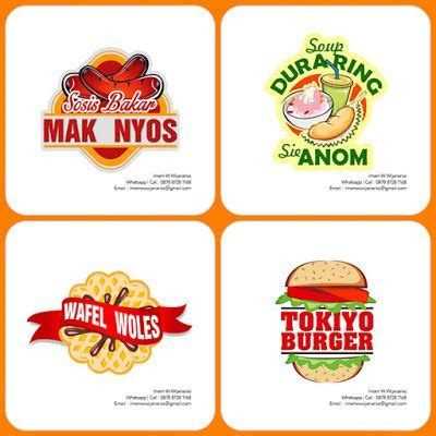 desain  produksi gerobak logo sosis bakar desain