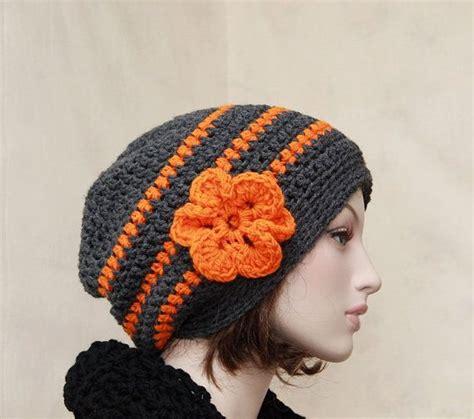 Ready Stelan Kulot Orange Grey ready to ship grey and orange slouch beanie by