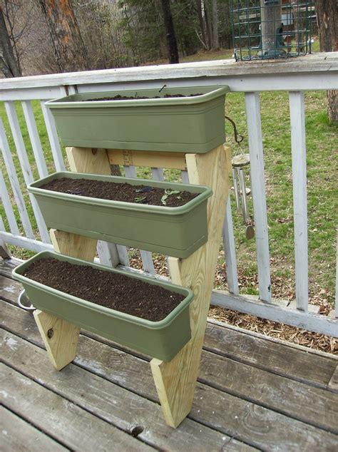Three Tier Garden Planter by Three Tier Planter Made With Stair Stringers Gardening
