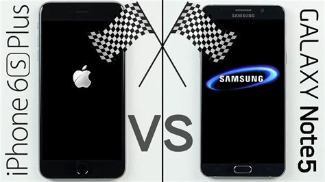 iphone 6s plus vs galaxy note 5 speed test