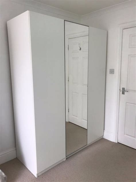 Ikea Pax Closet Doors White Ikea Pax Wardrobe With Three Doors One Mirror Door In Beckenham Gumtree