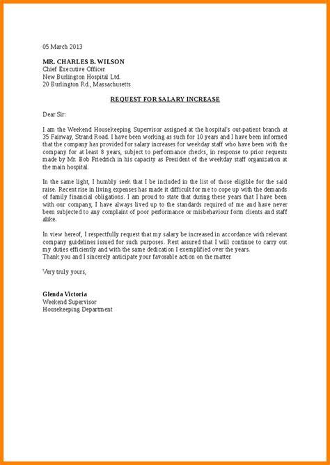write request raise letter include