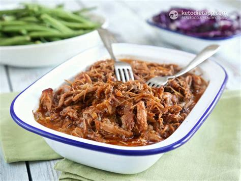 pulled pork with bbq sauce the ketodiet blog