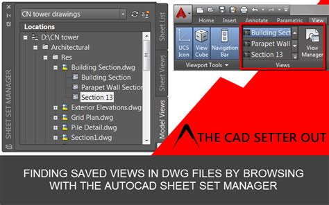 autocad tutorial sheet set accessing saved views from the autocad sheet set manager