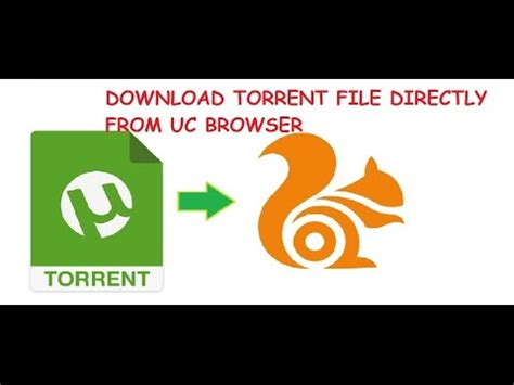 torrent files directly from uc browser or any