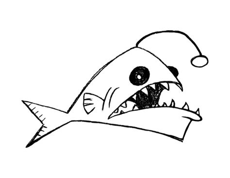 anglerfish coloring page colordad