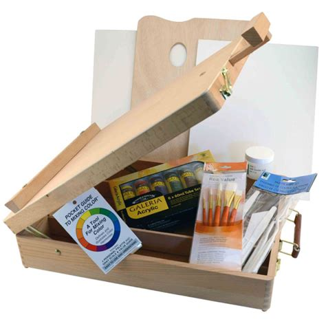 acrylic painting easel set buy hyatt s sketchbox easel acrylic paint set
