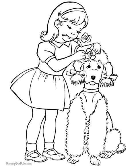 coloring pages of pets to print free girl puppy coloring pages