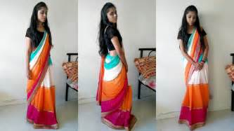 draping saree in lehenga style how to wear saree for wedding in lehenga style 2 mins