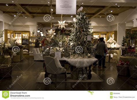 trees home goods store editorial photography
