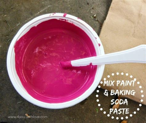 chalk paint recipe with baking soda diy chalk paint the family