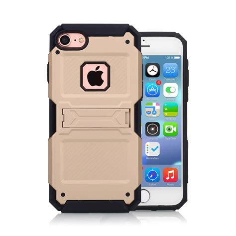 apple zubeh r apple iphone 7 kickstand hybrid outdoor handycover gold
