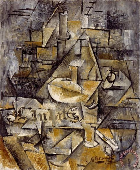 cubist george georges braque le bougeoir the candlestick painting le