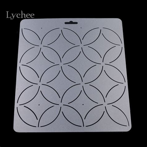 Lychee 1pc Diy Coin Coin Floral Pattern Acrylic Quilt ୧ʕ ʔ୨ Template Template Patchwork Tools Custom Acrylic Quilt Templates