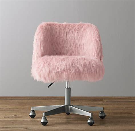 faux fur desk chair alessa dusty kashmir faux fur desk chair pewter