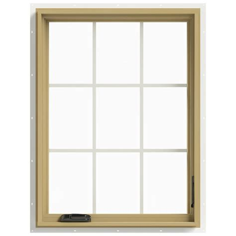 Jeld Wen Aluminum Clad Wood Windows Decor Jeld Wen 30 In X 40 In W 2500 Right Casement Aluminum Clad Wood Window Thdjw140100448